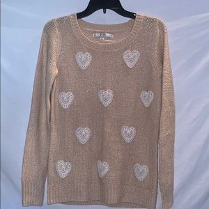 Lauren Conrad Pink Sparkly Sweater